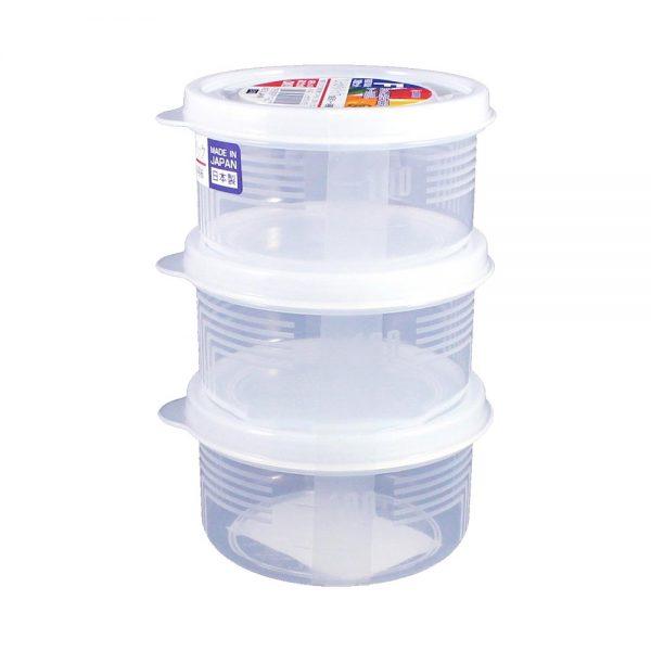 Combo 3 hộp nhựa tròn Nhật Bản Nakaya 180ml