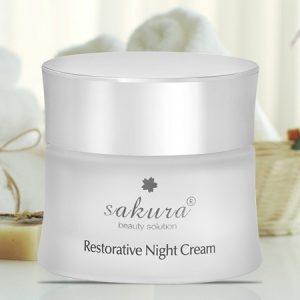 Kem Duong Da Ban Dem Sakura Restorative Night Cream 30g 2